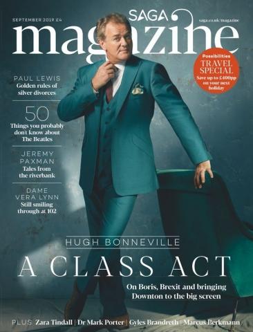 Hugh Bonneville, Saga Magazine