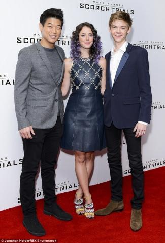 Ki Hong Lee Minho, Kaya Scodelario and Thomas Brodie - Sangster, Scorch Trials UK Fan Event