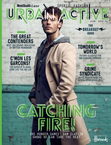 Sam Claflin, Urban Active Magazine